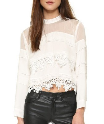 Lin eand Dot lace top