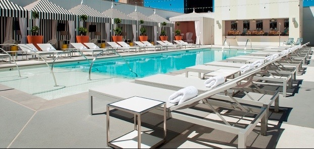 The LUX pool at SLS Las Vegas